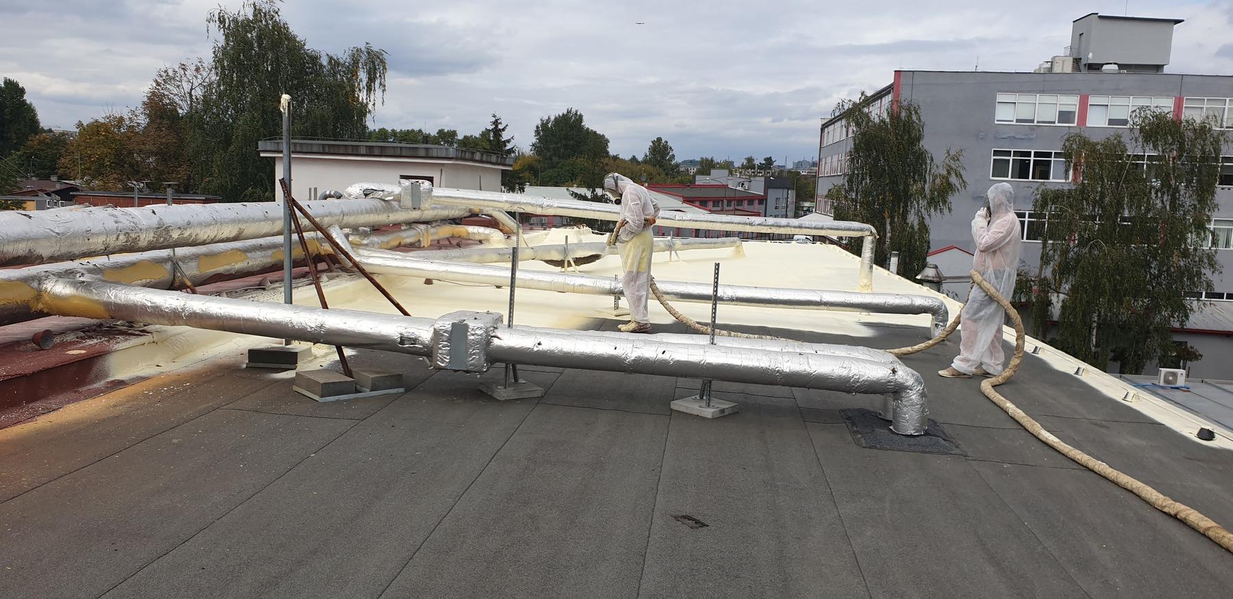 Hydroizolacja dachu płaskiego w Krakowie